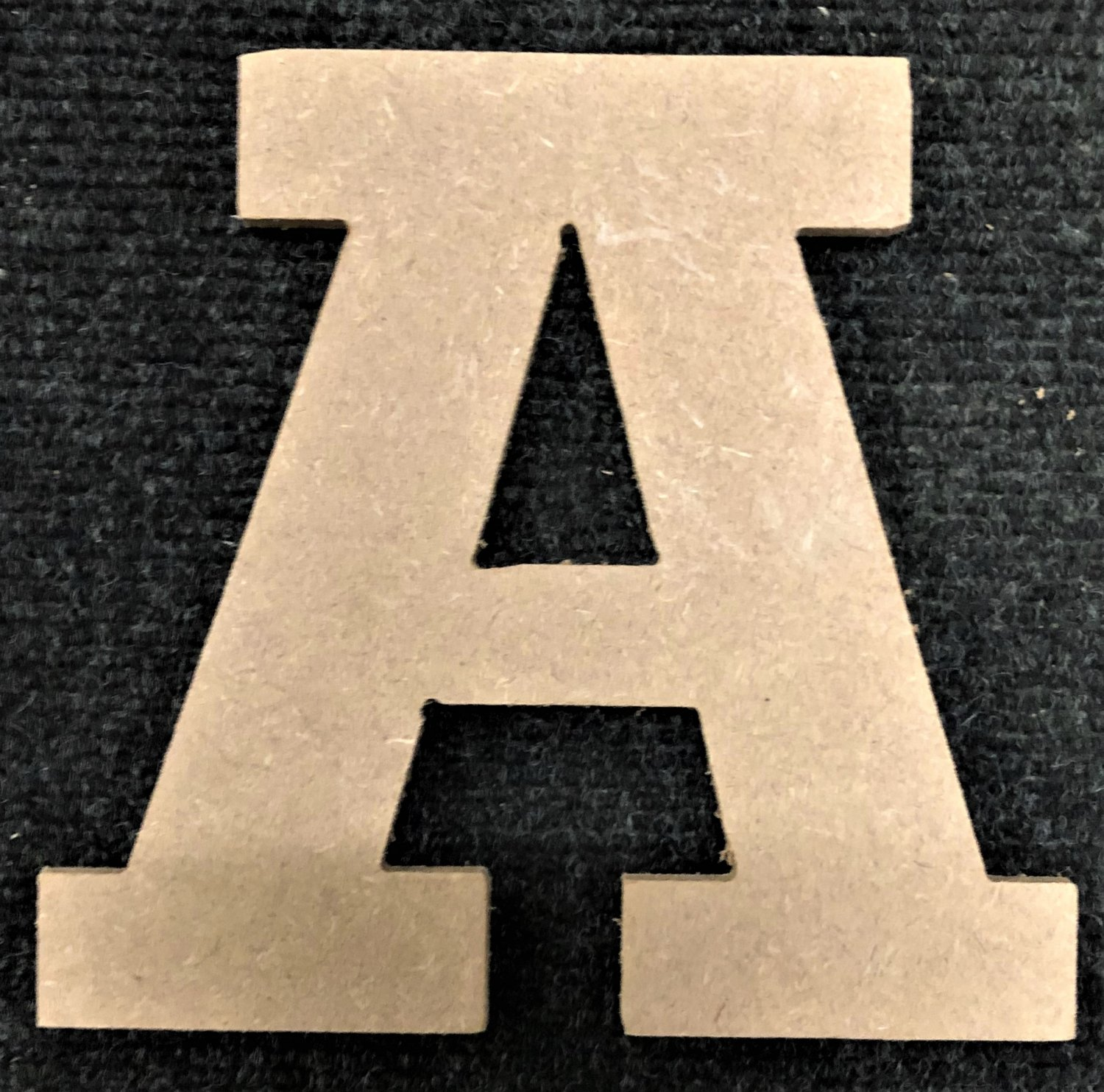 """12"""" Tall - Rockwell - 1/2""""Thick MDF Letter """"A"""" Cut Out Made in the USA"""