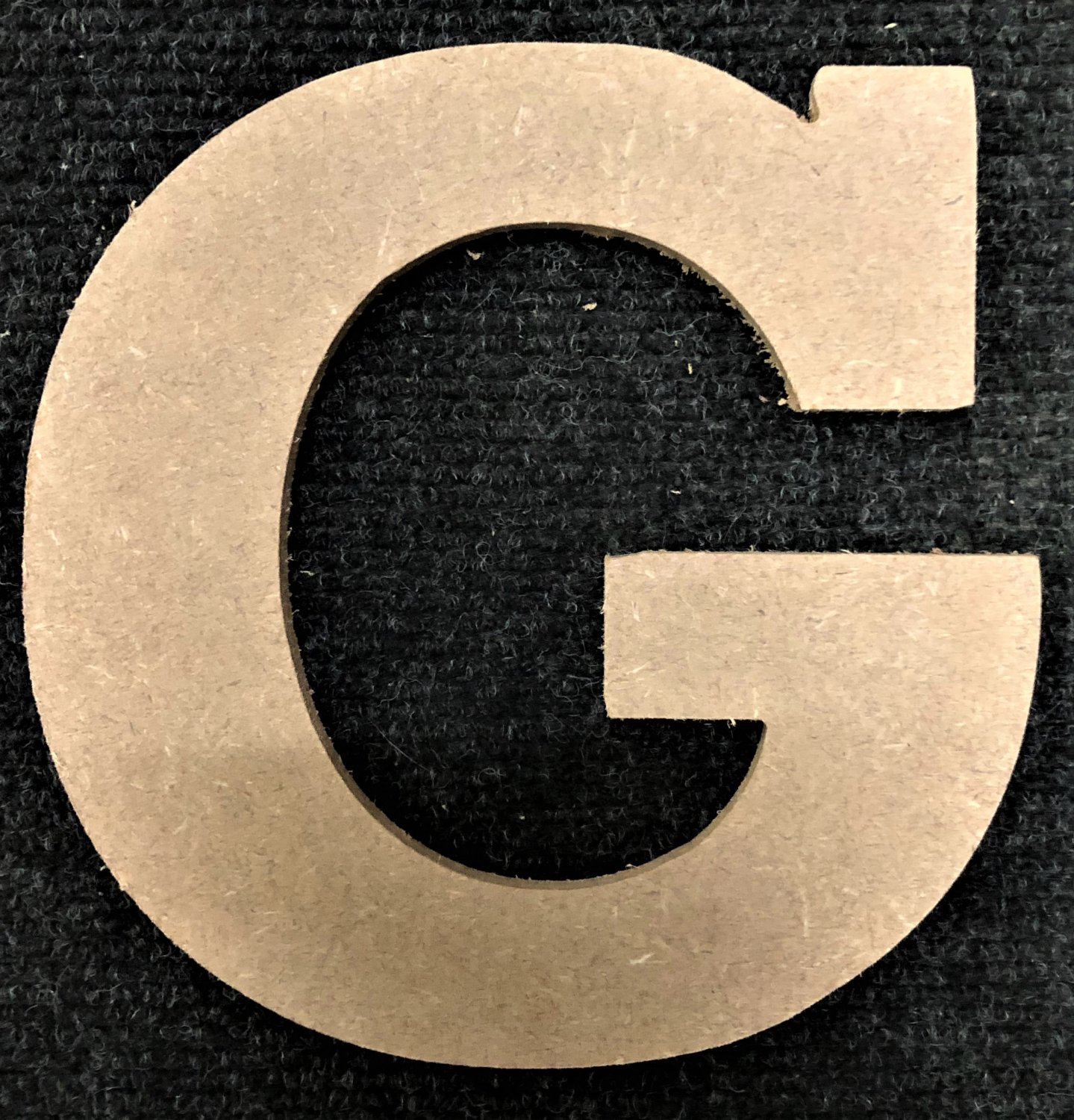 "12"" Tall - Rockwell - 1/2""Thick MDF Letter ""G"" Cut Out Made in the USA"