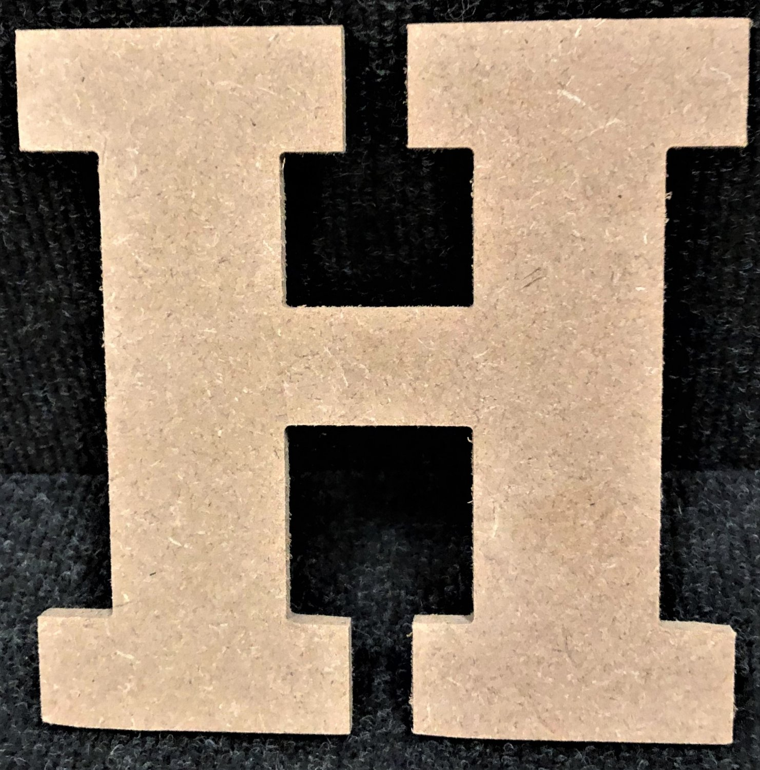 "12"" Tall - Rockwell - 1/2""Thick MDF Letter ""H"" Cut Out Made in the USA"