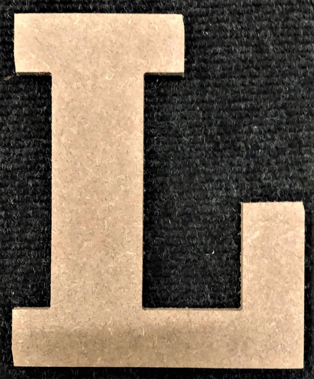 """12"""" Tall - Rockwell - 1/2""""Thick MDF Letter """"L"""" Cut Out Made in the USA"""
