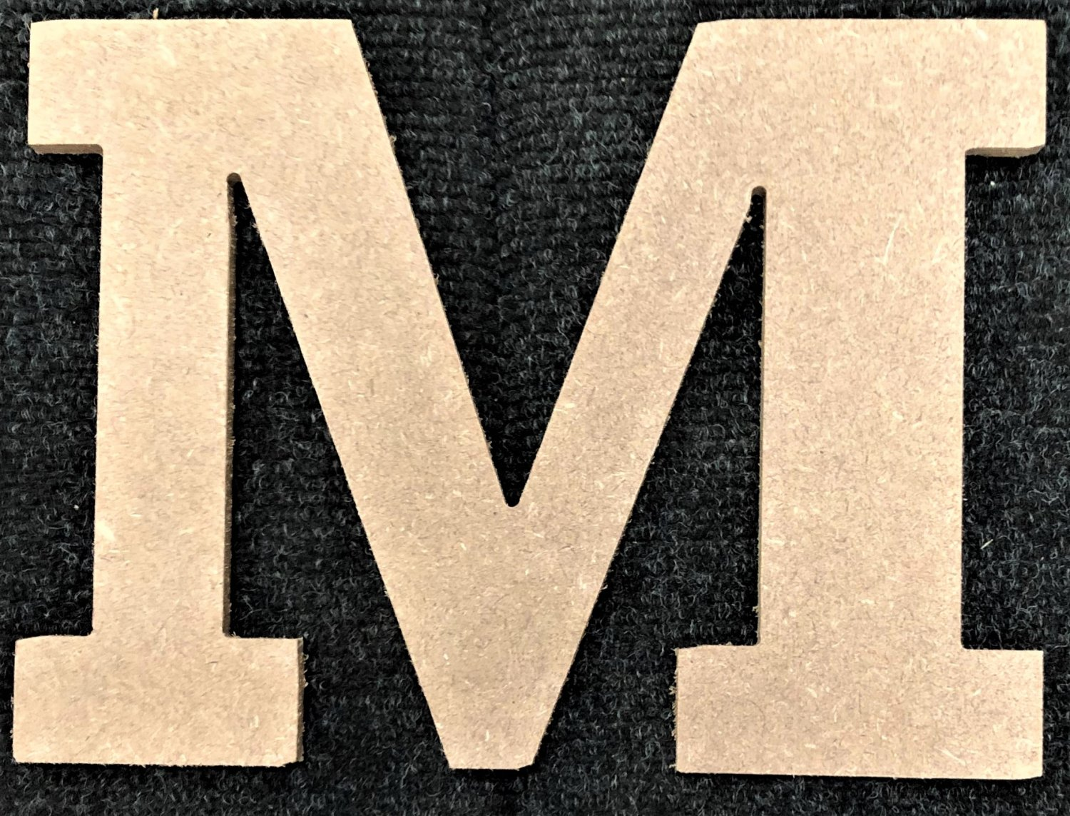 """12"""" Tall - Rockwell - 1/2""""Thick MDF Letter """"M"""" Cut Out Made in the USA"""