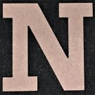 "12"" Tall - Rockwell - 1/2""Thick MDF Letter ""N"" Cut Out Made in the USA"