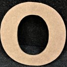 "12"" Tall - Rockwell - 1/2""Thick MDF Letter ""O"" Cut Out Made in the USA"