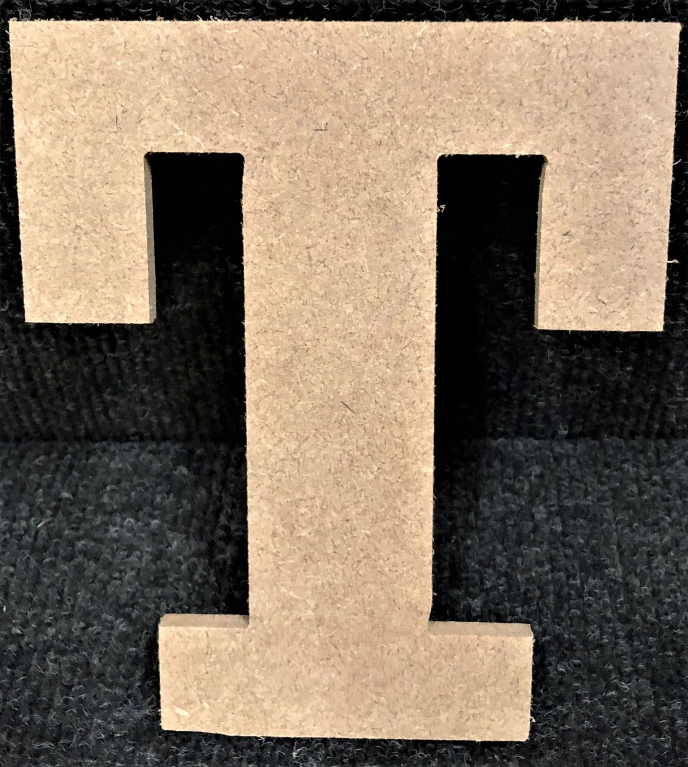 """12"""" Tall - Rockwell - 1/2""""Thick MDF Letter """"T"""" Cut Out Made in the USA"""