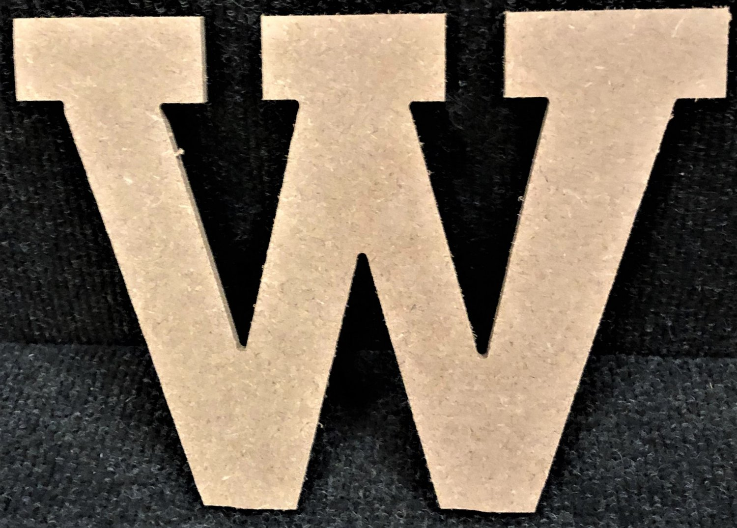 """12"""" Tall - Rockwell - 1/2""""Thick MDF Letter """"W"""" Cut Out Made in the USA"""