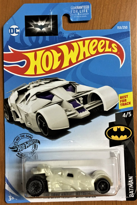 2019 Hot Wheels #153 The Dark Knight Batmobile WHITE