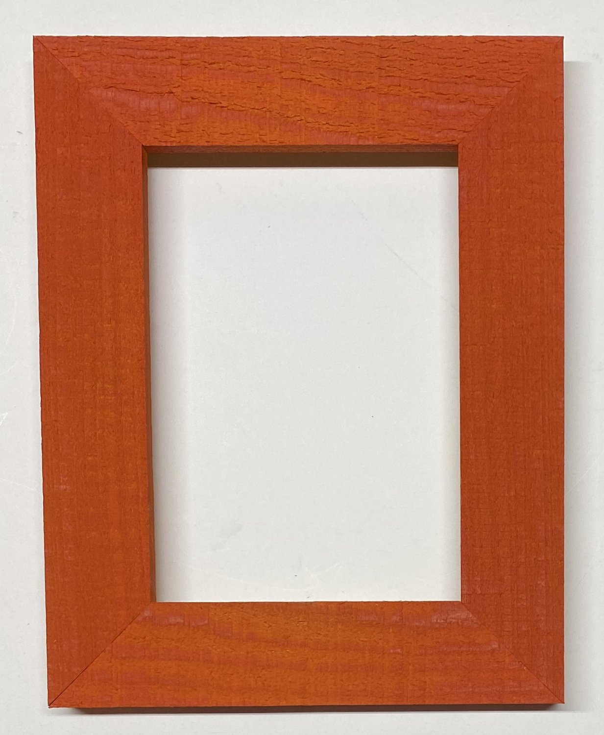 "F012 4 x 6 1-1/2"" Fire Orange Cypress Picture Frame"