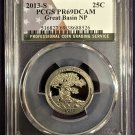 PCGS 2013-S Great Basin Quarter PR69DCAM   #Q0022