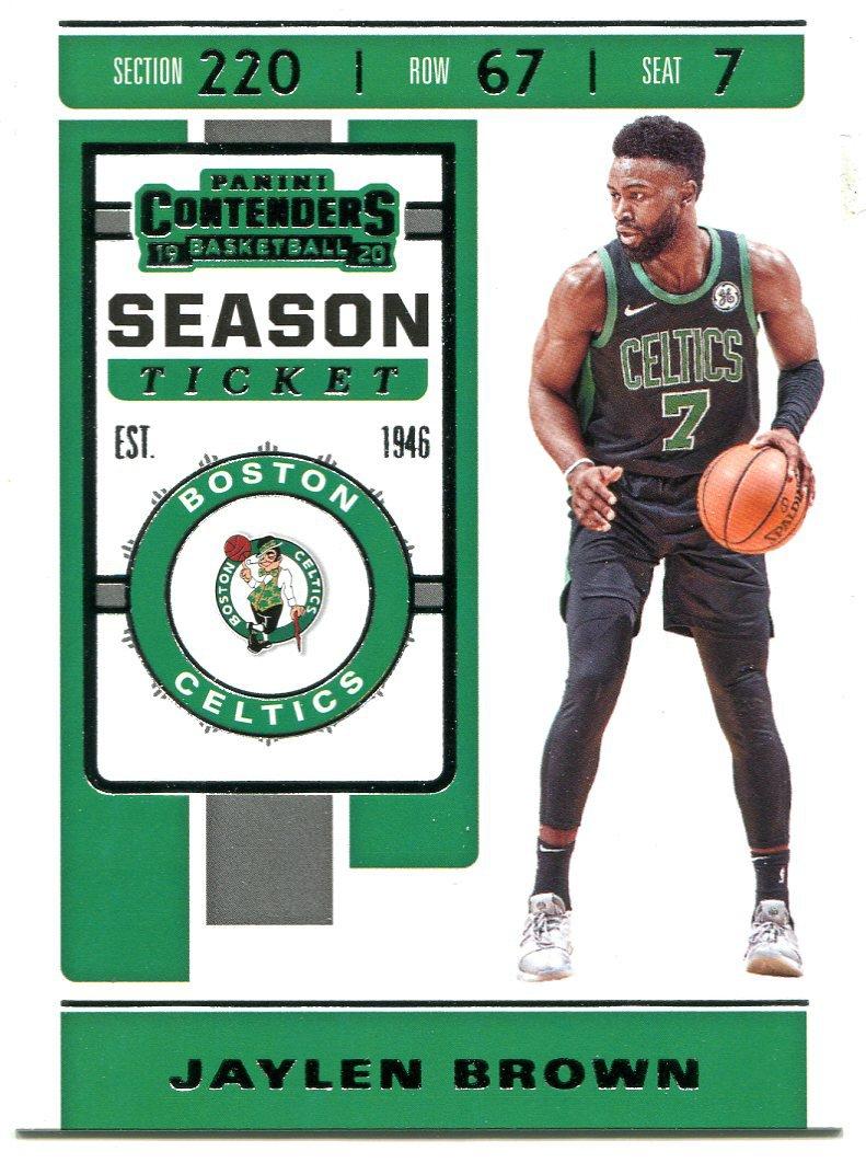 2019 Contenders Basketball Card #42 Jaylen Brown
