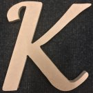 "6"" Tall - Fancy 1 - 1/4""Thick MDF Letter ""K"" Cut Out Made in the USA"