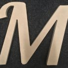 "6"" Tall - Fancy 1 - 1/4""Thick MDF Letter ""M"" Cut Out Made in the USA"