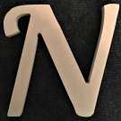 "6"" Tall - Fancy 1 - 1/4""Thick MDF Letter ""N"" Cut Out Made in the USA"