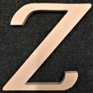 "6"" Tall - Fancy 1 - 1/4""Thick MDF Letter ""Z"" Cut Out Made in the USA"