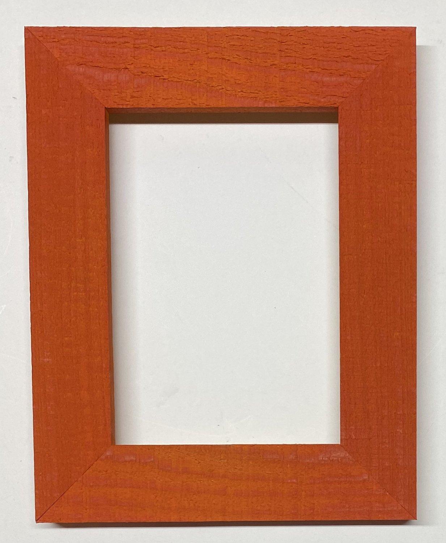 "F012 18 x 24 1-1/2"" Fire Orange Cypress Picture Frame"