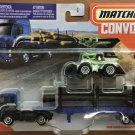2020 Matchbox Convoys #4 Ford Cargo & Logger Bed w/Dirt Smasher