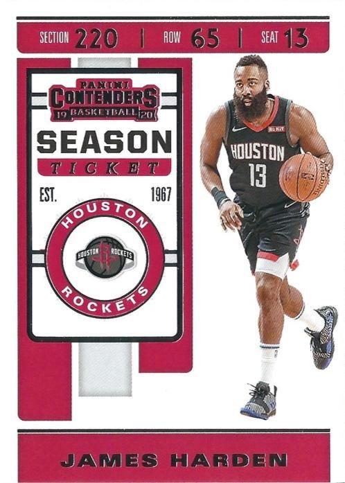 2019 Contenders Basketball Card #40 James Harden