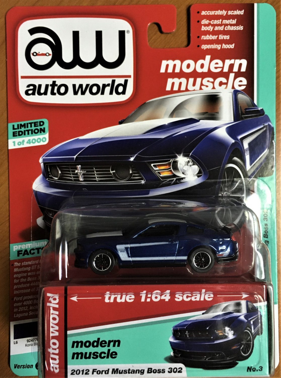 2019 Auto World Release 1 #3A 2012 Ford Mustang Boss 302