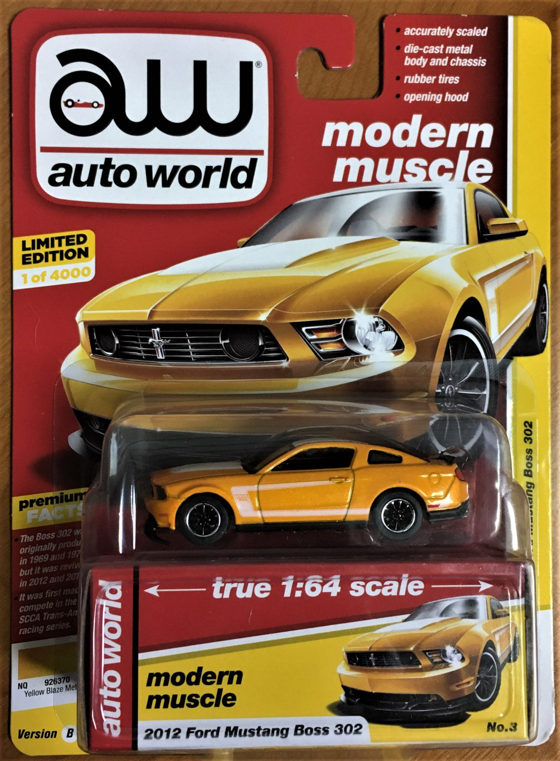 2019 Auto World Release 1 #3B 2012 Ford Mustang Boss 302