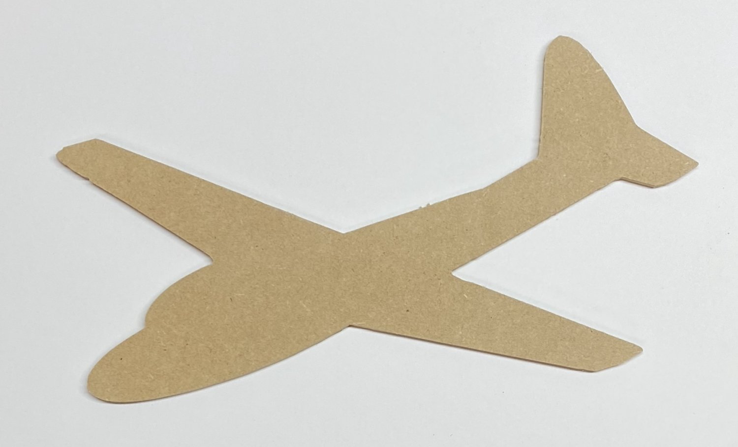 """24"""" - AIRPLANE - 1/4""""Thick MDF Cut Out Made in the USA"""