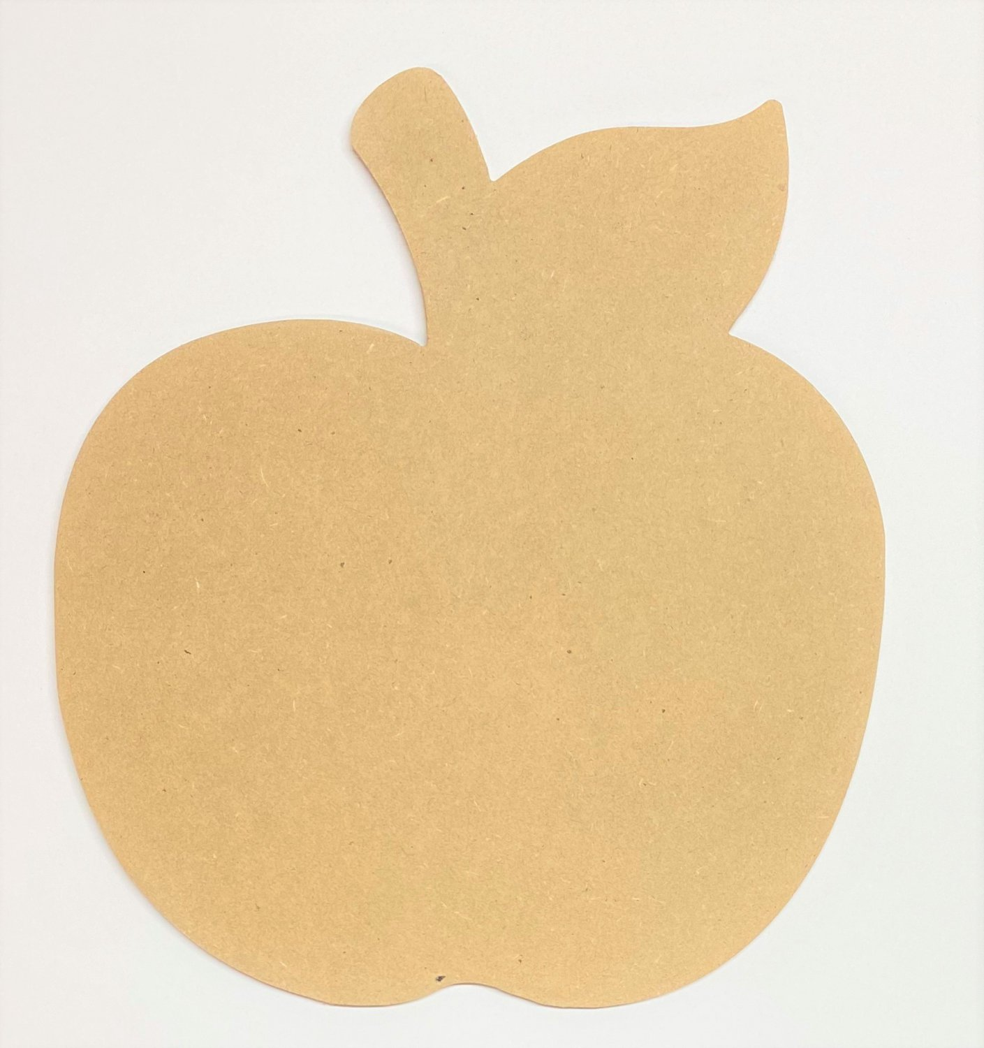 """6"""" - Apple - 1/4""""Thick MDF Cut Out Made in the USA"""