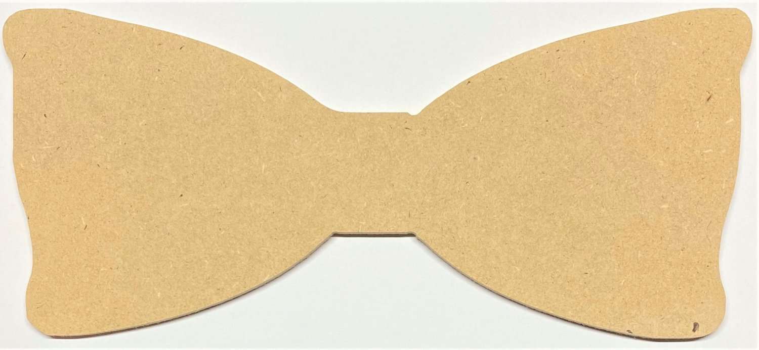 "6"" - Bow Tie - 1/4""Thick MDF Cut Out Made in the USA"