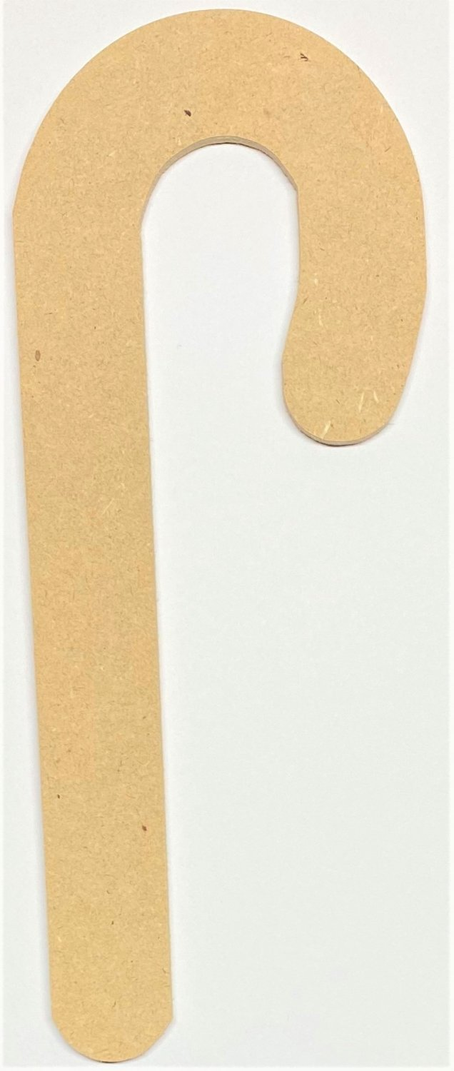 "24"" - CANDY CANE - 1/4""Thick MDF Cut Out Made in the USA"