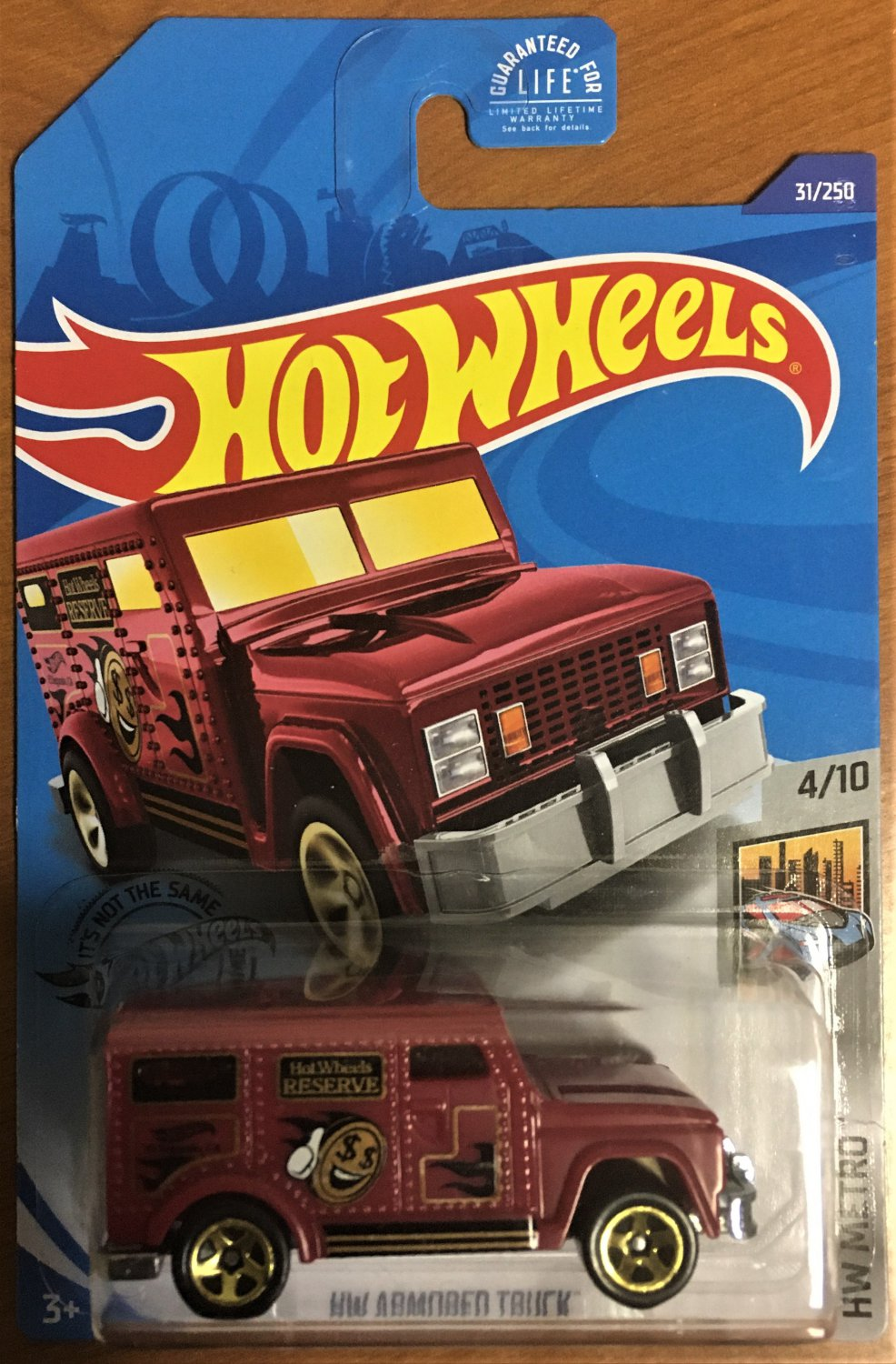 2020 Hot Wheels #31 HW Armored Truck RED