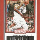 2019 Contenders Draft Picks Basketball Card #11V Damian Lillard
