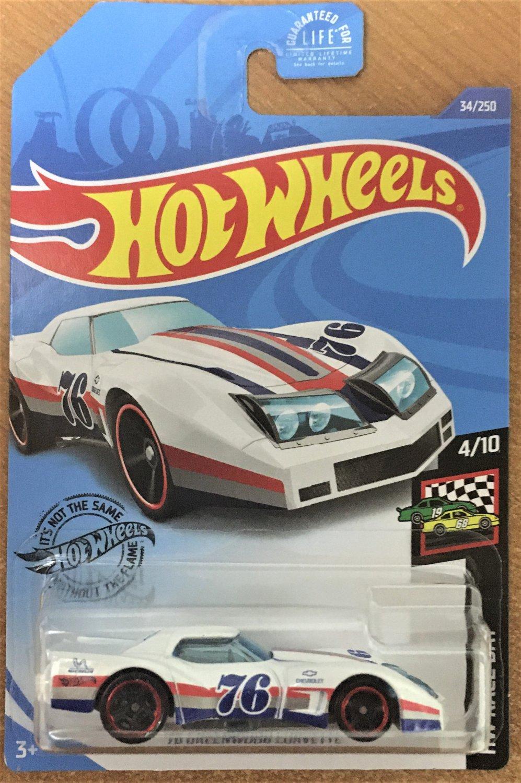 2020 Hot Wheels #34 76 Greenwood Covette WHITE