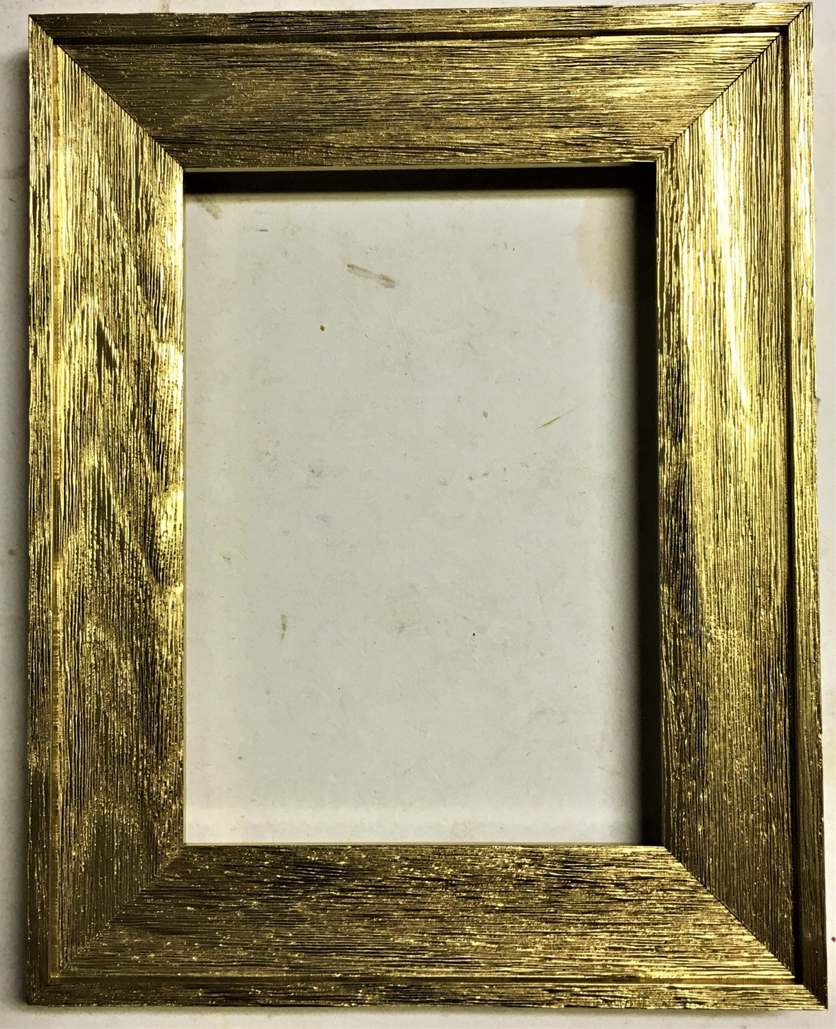 """F045-201 10 x 10 1-1/2"""" Bright Gold Barnwood Picture Frame"""