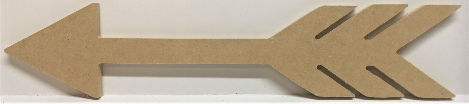 """6"""" - ARROW - 1/4""""Thick MDF Cut Out Made in the USA"""
