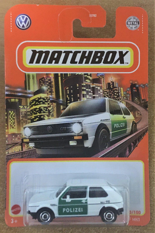 2021 Matchbox #33 1976 Volkswagen Golf MK1