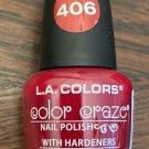 L A Colors Color Craze Nail Polish #406 Hot Blooded