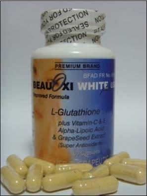2 bottle Beauoxi White Plus 750mg + 100i.u.USA 60 Giant Capsules (FREE SHIPPING)