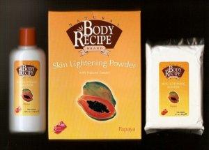 HBC Natural Body Recipe Brand Papaya Skin Lightening Powder with Natural Extracts