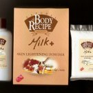HBC Natural Body Recipe Brand MILK Plus Skin Lightening Powder with Goat's Milk