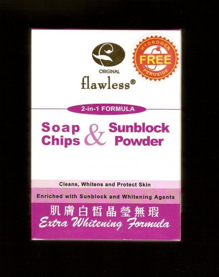 Flawless 2 in 1 Soap Chips & Sunblock Powder BLEACHING POWDER *Super Whitening Formula*