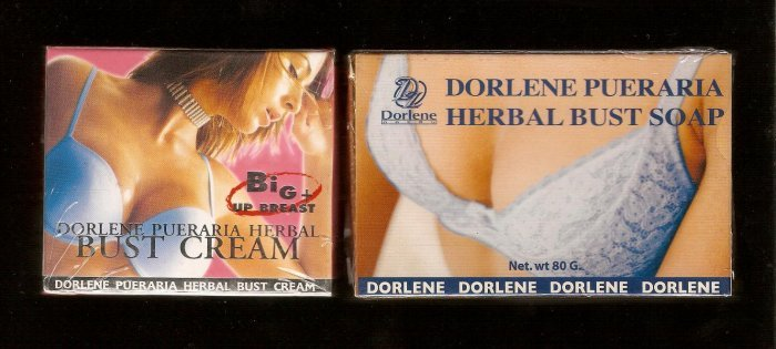 LOT of 4 boxes Dorlene Pueraria Herbal Bust Cream with FREE 1pc Dorlene Pueraria Herbal Bust Soap