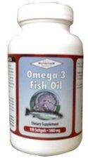 OMEGA 3 (Fish Oil) 1000mg (100 Softgels) Anti Acne (Free Shipping Worldwide)