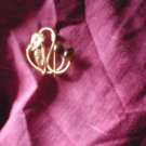 Swirl and Stone Effect Brooch