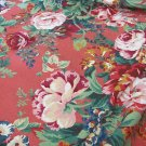 FABRICS ROSES FLORAL Jay Yang Screen Print CHIC Red Tones Drapery Craft Pillows
