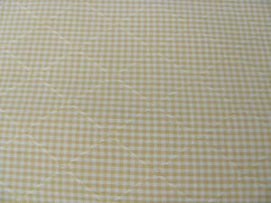 "YELLOW GINGHAM Small with Textured Triangle 54"" X  84"" Kravet Drapery Pillows"