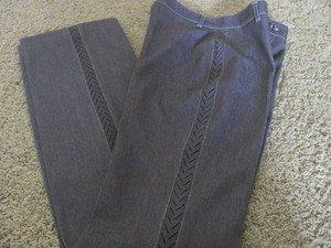 VERTIGO PARIS DRESS PANTS Brown 2 Sexy Inserts Sleek Pocketless NEW  Straight