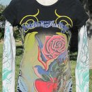 "ED HARDY CHRISTIAN AUDIGLER SMALL Black ""PRETTY IN INK"" Embellished EUC"