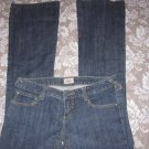 """FREE PEOPLE JEANS 28 X  33 ½"""" FLARE Sexy Plain Pocket Thick Denim"""