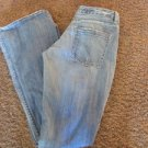 KUNNA JEANS  28 x 33 Low Rise Flare Rag Wash