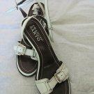 FRANCO SARTO WHITE ANKLE STRAP SANDAL Size 7 EUC Open Toe Sexy Heel