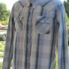HOLLISTER PLAID WESTERN Snap Front Long Sleeve XL Great Condition
