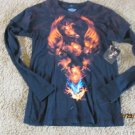 MEN'S EXTREME PAIN CLOTHING TEE SHIRT TATTOO S NWT BORN OF FIRE BLACK RED OVERS