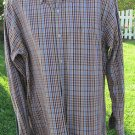 BORN SIZE LARGE HANDCRAFTED Button Front Long Sleeve Multi Colored HANDSOME